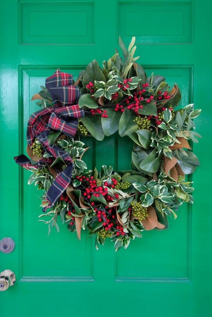 A wreath from East Hampton Gardens in East Hampton on November 6th, 2017