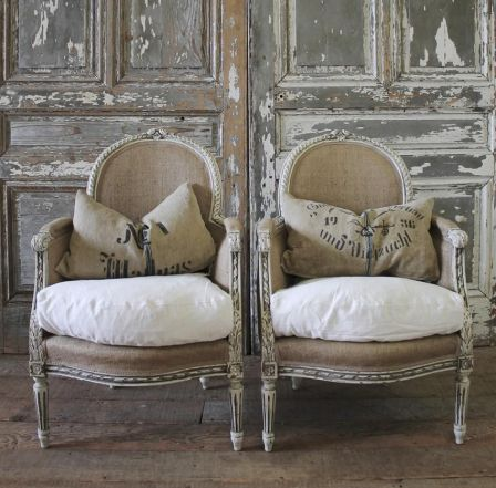 French bergere chairs